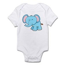 Elephant - Blue Infant Bodysuit