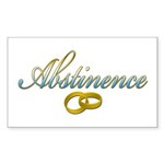 Abstinence Rectangle Sticker 50 pk)
