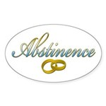 Abstinence Oval Sticker (50 pk)