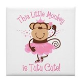 Tutu Cute Monkey Tile Coaster