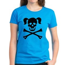 Skull and Cross Bones With Pigtails Tee