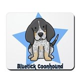 Star Kawaii Bluetick Coonhound Mousepad
