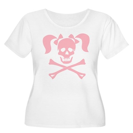 Skull & Cross Bones Pigtails & Bow Women's Plus Si