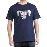 Skull With Pigtails & Bow T-Shirt