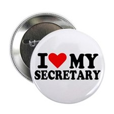 "I love my secretary 2.25"" Button (100 pack)"