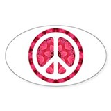 Flower Power Oval Sticker (50 pk)