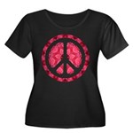 Flower Power Women's Plus Size Scoop Neck Dark T-S