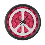 Flower Power Large Wall Clock