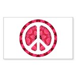 Flower Power Rectangle Sticker 10 pk)