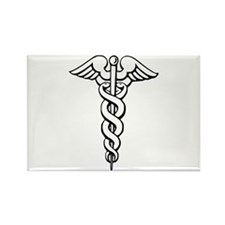 Caduceus Rectangle Magnet (10 pack)