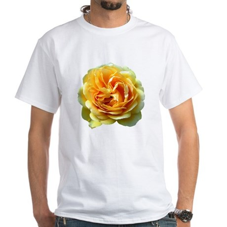 Yellow Rose White T-Shirt