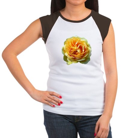 Yellow Rose Women's Cap Sleeve T-Shirt