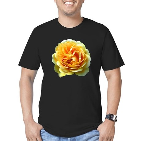 Yellow Rose Men's Fitted T-Shirt (dark)