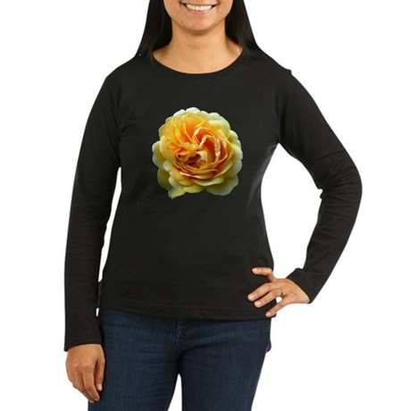 Yellow Rose Women's Long Sleeve Dark T-Shirt