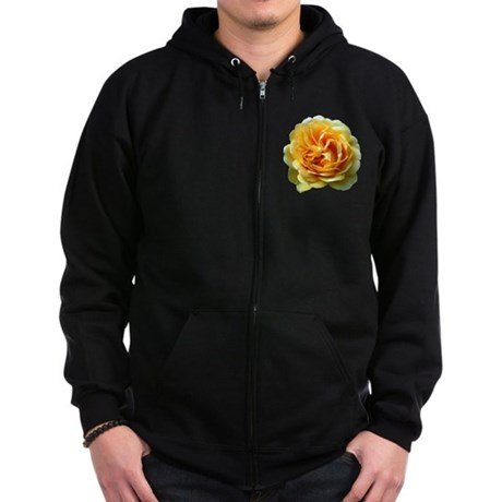 Yellow Rose Zip Hoodie (dark)