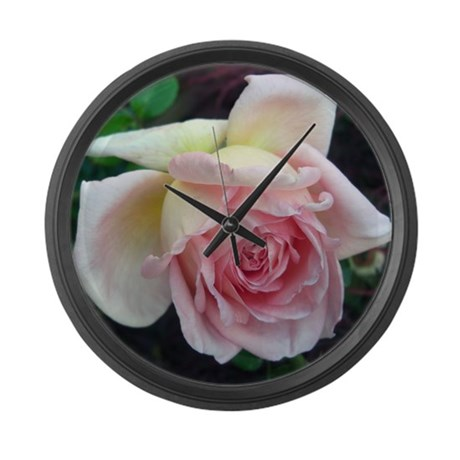 Birdlike Rose Large Wall Clock