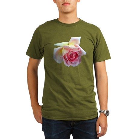 Birdlike Rose Organic Men's T-Shirt (dark)
