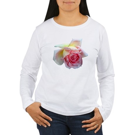 Birdlike Rose Women's Long Sleeve T-Shirt
