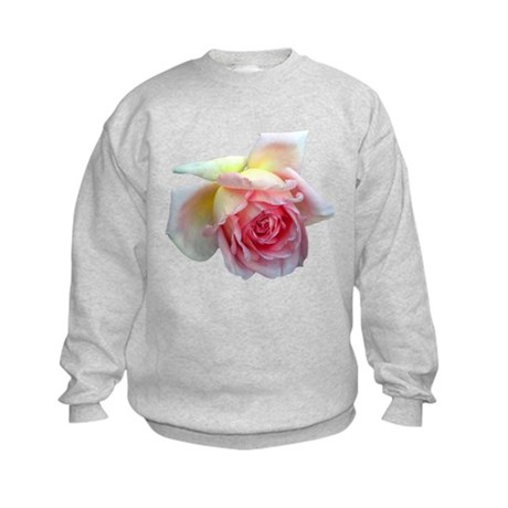 Birdlike Rose Kids Sweatshirt