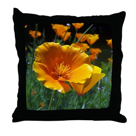 Hello Poppies Throw Pillow