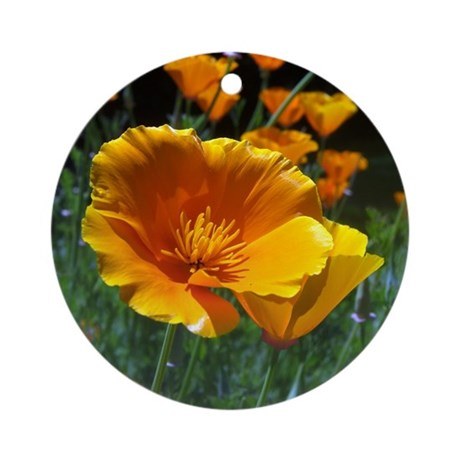 Hello Poppies Ornament (Round)