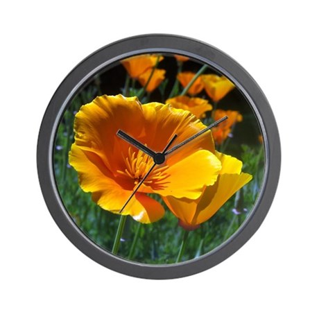 Hello Poppies Wall Clock
