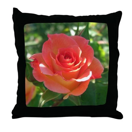 Rose Cup Throw Pillow