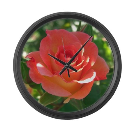Rose Cup Large Wall Clock