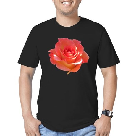 Rose Cup Men's Fitted T-Shirt (dark)