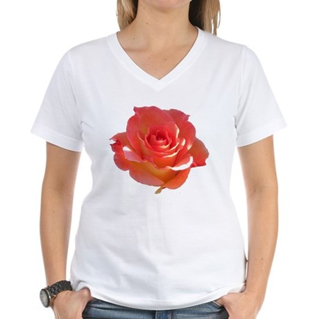 Rose Cup Women's V-Neck T-Shirt