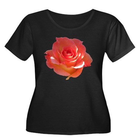 Rose Cup Women's Plus Size Scoop Neck Dark T-Shirt