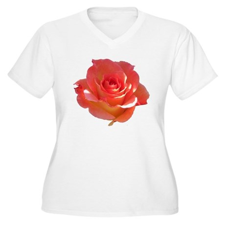 Rose Cup Women's Plus Size V-Neck T-Shirt