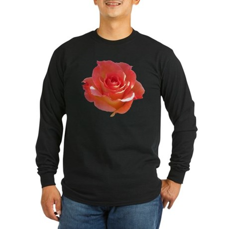 Rose Cup Long Sleeve Dark T-Shirt
