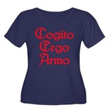 Cogito Ergo Armo (red) Women's Plus Size Scoop Nec
