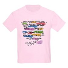 Cheerleading Words T-Shirt