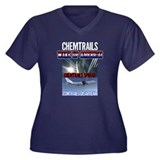 Chemtrails Women's Plus Size V-Neck Dark T-Shirt