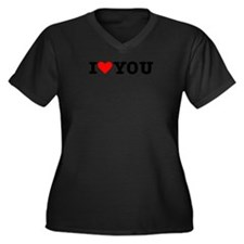 I love you Women's Plus Size V-Neck Dark T-Shirt