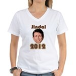 Bobby Jindal 2012 Women's V-Neck T-Shirt