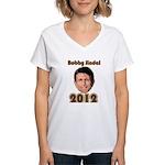 Bobby Jindal 2012 Women's V-Neck T-Shirt