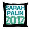Sarah Palin 2012 Throw Pillow