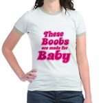 The Boobs are Made For... Jr. Ringer T-Shirt