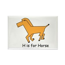 H is for Horse Rectangle Magnet (10 pack)