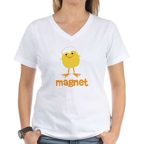 Chick Magnet Women's V-Neck T-Shirt