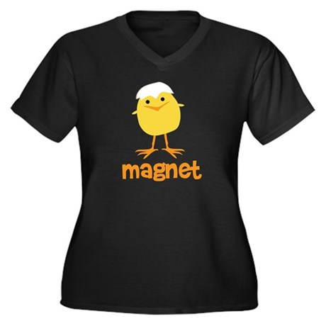 Chick Magnet Women's Plus Size V-Neck Dark T-Shirt