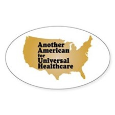 Universal Healthcare For All Oval Decal