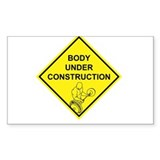 Body Under Construction Rectangle Decal