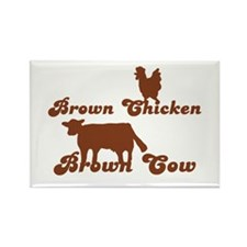 Brown Chicken Brown Cow Rectangle Magnet