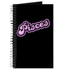 Retro Zodiac Pisces Journal