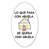 Con Abuela Oval Decal