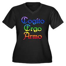 Cogito Ergo Armo (rbo1) Women's Plus Size V-Neck D